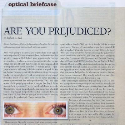 Are You Predjudiced